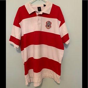 Men's 3X Kani Gold Red/White Stripe Polo Used